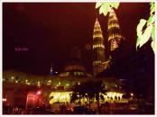 malam indah di masjid KLCC