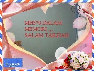 Memori sebuah kehilangan MH370