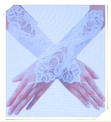 sanwood wedding fingerless pearl lace satingloves