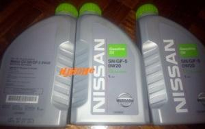 3 botol x 1liter motor oil sn/fg-5 0w20